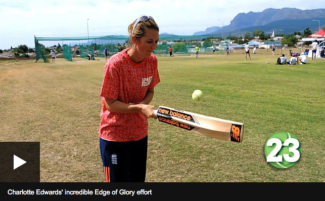 Charlotte Edwards breaking records for BBC Sport Relief